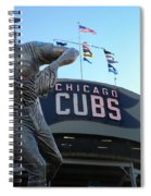 Ron Santo Chicago Cubs Statue Spiral Notebook
