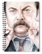 Ron Swanson Mustache Portrait Spiral Notebook