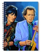 Ron Wood And Keith Richards Spiral Notebook