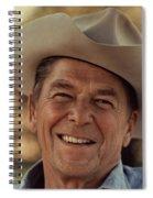 Ronald Reagan In 1976 At His Home At Rancho Del Cielo Spiral Notebook