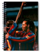 Ronaldinho And Eto'o Spiral Notebook