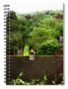 Roof Tops In Countryside Scenery With Trees - Peak District - England Spiral Notebook
