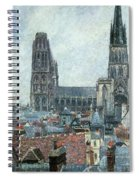Roofs Of Old Rouen Grey Weather  Spiral Notebook