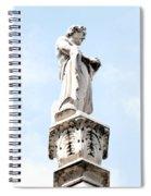 Rooftop Male Statue Duomo Di Milano Italia Spiral Notebook