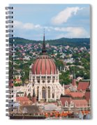 Rooftop Of Parliament Building In Budapest Spiral Notebook