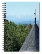 Rooftops Of Carcassonne Spiral Notebook