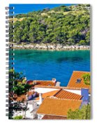 Rooftops Sea And Stone Islands Spiral Notebook