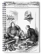 Roosevelt-taft Cartoon Spiral Notebook