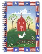 Rooster Americana Spiral Notebook