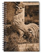 Rooster At The Big Chicken Barn Spiral Notebook