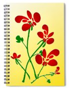 Rooster Flowers Spiral Notebook