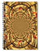 Crowing Rooster Kaleidoscope Spiral Notebook