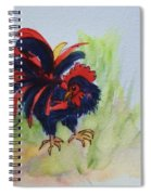 Rooster - Red And Black Rooster Spiral Notebook