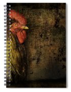 Rooster With Brush Calligraphy Loyalty Spiral Notebook