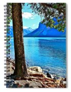 Rooted In Lake Minnewanka Spiral Notebook