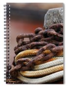 Rope And Chain Spiral Notebook