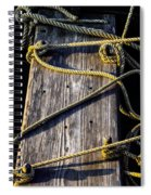 Rope And Wood Sidelight Textures Spiral Notebook
