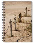 Rope And Wooden Fence Spiral Notebook
