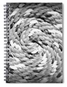 Rope Black And White Spiral Notebook