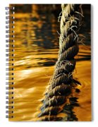 Rope On Liquid Gold Spiral Notebook