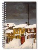 Roros In Winter - Norway Spiral Notebook