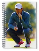 Rory Mcilroy  Lines Up A Birdie Putt  Spiral Notebook