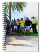 Rory Mcilroy - The Third Round Of The Omega Dubai Desert Classic Spiral Notebook