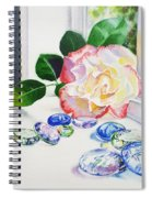 Rose And Glass Rocks Spiral Notebook