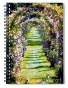Rose Arch In Summer Sunshine Spiral Notebook