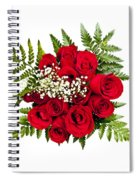 Rose Bouquet From Above Spiral Notebook