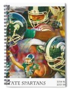 Rose Bowl Collage Spiral Notebook