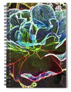 Rose Colorized Outline Spiral Notebook
