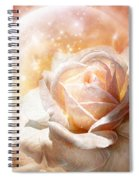 Rose - Colors Of The Moon Spiral Notebook