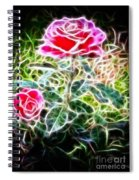 Rose Expressive Brushstrokes Spiral Notebook
