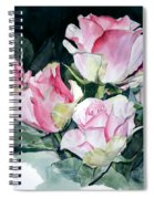 Watercolor Of A Pink Rose Bouquet Celebrating Ezio Pinza Spiral Notebook