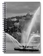 Rose Festival Fire Boat Spiral Notebook