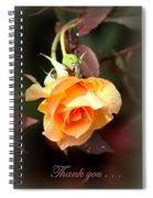 Rose - Flower - Card Spiral Notebook