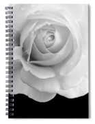 Rose Flower Macro Black And White Spiral Notebook