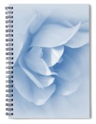Rose Flower Petals Soft Blue Spiral Notebook