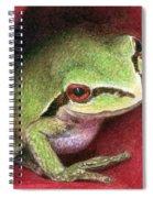 Rose Frog Spiral Notebook