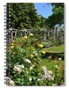Rose Garden And Trellis Spiral Notebook