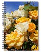 Rose Garden Art Prints Yellow Orange Rose Flowers Spiral Notebook