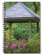 Rose Garden Gazebo Spiral Notebook