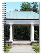 Rose Garden Pergola In Delaware Park Buffalo Ny Oil Painting Effect Spiral Notebook