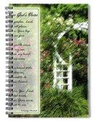 Rose Garden Prayer Spiral Notebook