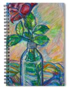 Rose In A Bottle Spiral Notebook