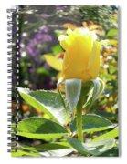 Rose In A Bubble Digital Art Spiral Notebook