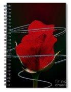 Rose In A Dark Spiral Notebook
