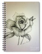 Rose In Monotone Spiral Notebook