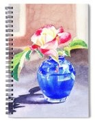 Rose In The Blue Vase  Spiral Notebook